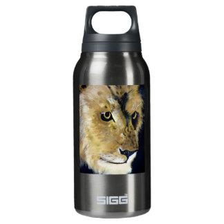 Lion  Acryilc Painting  Original Art Insulated Water Bottle