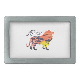 LION AFRICA BELT BUCKLE