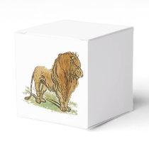Lion African Cat Golden Mane Cartoon Favor Box