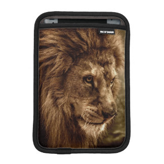 Lion against stormy sky iPad mini sleeves
