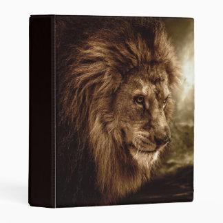 Lion against stormy sky mini binder