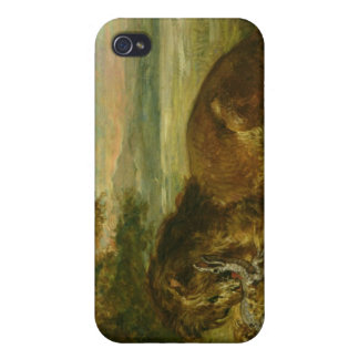 Lion and Alligator, 1863 Cover For iPhone 4