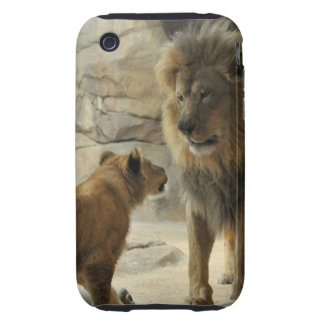 Lion and Cub Case-Mate Case Tough iPhone 3 Covers