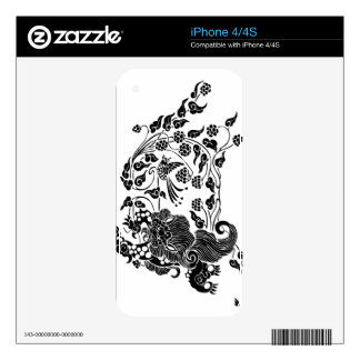 Lion and Grapes 獅子葡萄 iPhone 4 Skin