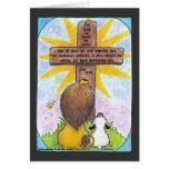 Lion and Lamb At the Cross Greeting Card