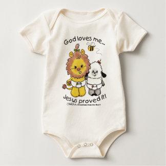 Lion and Lamb Babies Baby Bodysuit