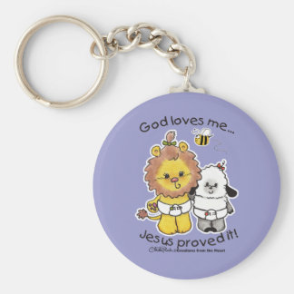 Lion and Lamb Babies Key Chains