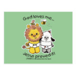 Lion and Lamb Babies Post Cards