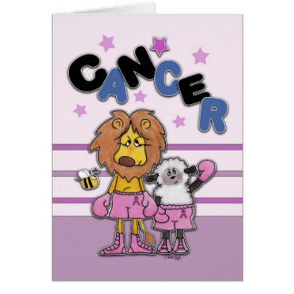 Lion and Lamb Boxers-Make Cancer Black and Blue Stationery Note Card