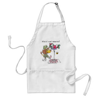 Lion and Lamb Candy Cane Makers Adult Apron