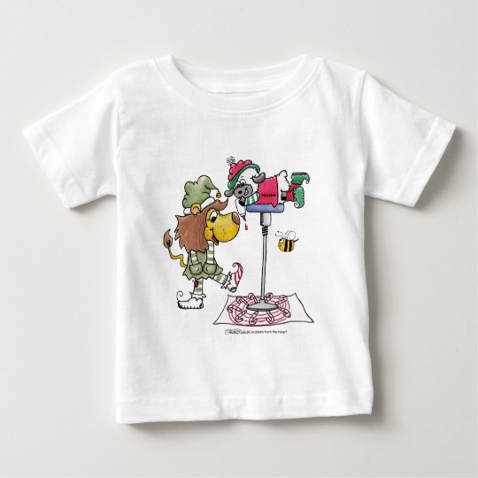 Lion and Lamb Candy Cane Makers Baby T-Shirt
