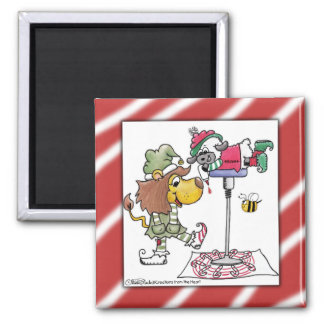 Lion and Lamb Candy Cane Makers Magnet