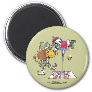 Lion and Lamb Candy Cane Makers Refrigerator Magnets