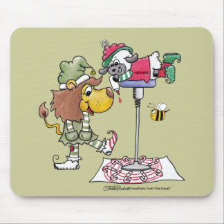 Lion and Lamb Candy Cane Makers Mouse Pad