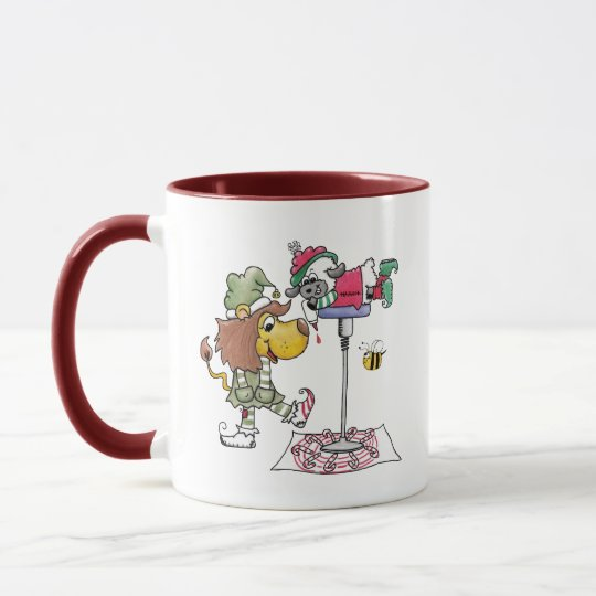 Lion and Lamb Candy Cane Makers Mug