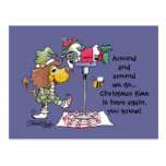 Lion and Lamb Candy Cane Makers Postcards