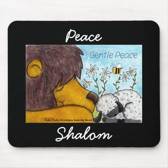 Lion and Lamb Gentle Peace Mouse Pad