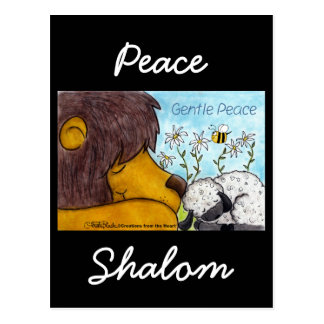 Lion and Lamb Gentle Peace Postcard