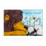 Lion and Lamb Gentle Peace Postcard