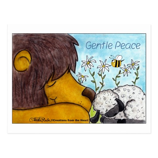 Lion and Lamb Gentle Peace Postcards