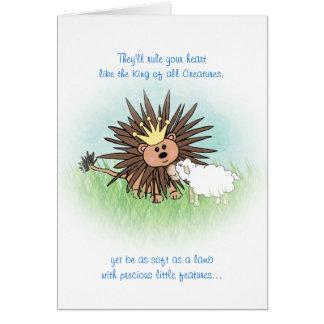 """Lion and Lamb"" Greeting Card"