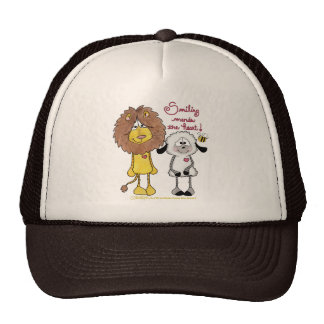 Lion and Lamb Heart Patches Hat