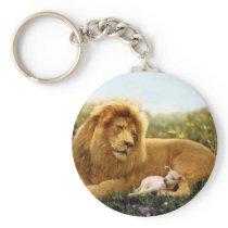 Lion and Lamb Keychain