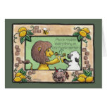 Lion and Lamb Make Lemonade- Peace Greeting Card