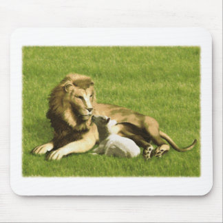 Lion and Lamb Mouse Pad