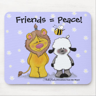 Lion and Lamb Peace Friends Mouse Pad