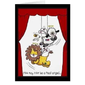 Lion and Lamb-Play Angels Greeting Card