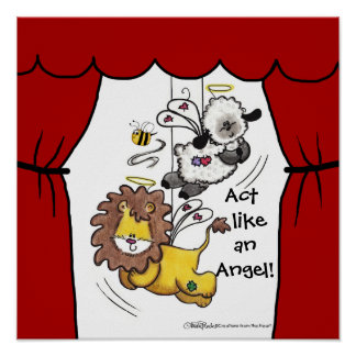 Lion and Lamb-Play Angels Print