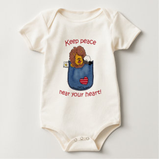 Lion and Lamb pocket pals Baby Bodysuit