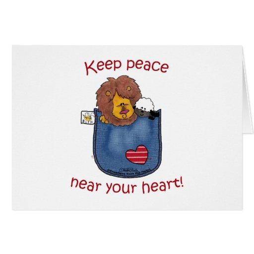 Lion and Lamb pocket pals Greeting Card