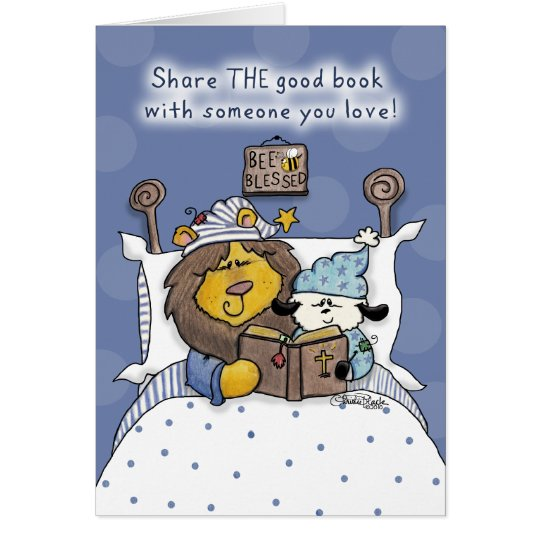 Lion and Lamb Share THE Good Book Card