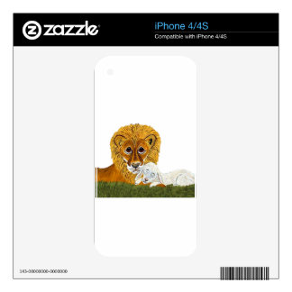 Lion And Lamb iPhone 4S Skins