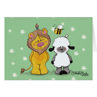 Lion and Lamb True Friends Card