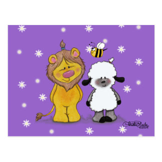 Lion and Lamb True Friends Postcard