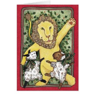 Lion and Lambs, Christmas Card