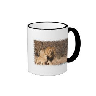 Lion and Lion Cub Coffee Mug