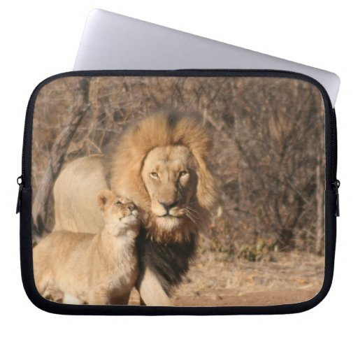 Lion and Lion Cub Electronics Bag Laptop Computer Sleeves