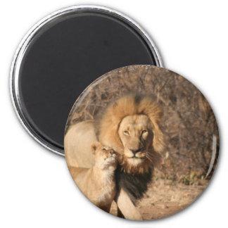 Lion and Lion Cub Magnet
