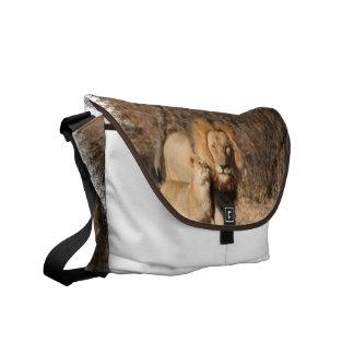 Lion and Lion Cub Messenger Bag