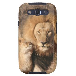 Lion and Lion Cub Samsung Galaxy Case Samsung Galaxy SIII Case