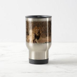 Lion and Lion Cub Travel Mug