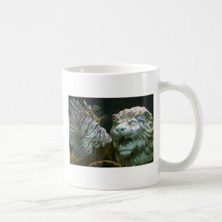 Lion and lion fish mug