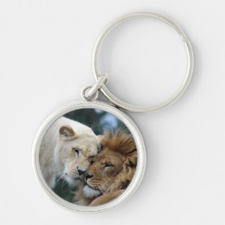 Lion and Lioness Keychain