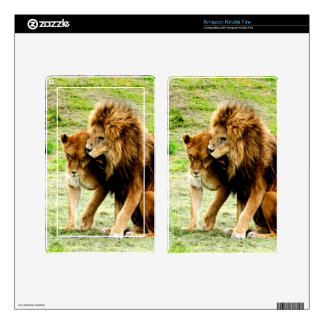 lion and lioness mom love skin for kindle fire