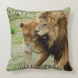 Lion and Lioness Pillow