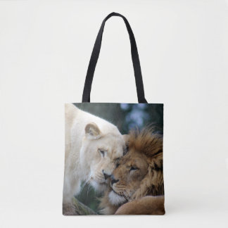 Lion and Lioness Tote Bag